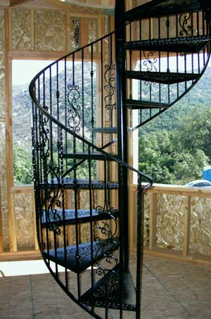 Iron Spiral Stairs